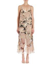 Dries Van Noten | Delax Two-in-one Floral-print Organza Midi Dress | Lyst