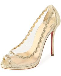Christian Louboutin - Hargaret Transparent Red Sole Pump - Lyst