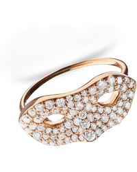 "Monica Rich Kosann - Unmasked"" Diamond Rose Gold Ring - Lyst"