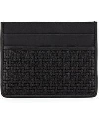 Ermenegildo Zegna   Pelle Tessuta Woven Leather Card Case   Lyst