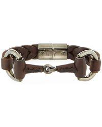 Gucci | Men's Leather Horsebit Bracelet | Lyst