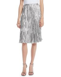 0d70ea59d0 Aidan Mattox Blouson Cocktail Dress With Stretch Sequin Skirt - Lyst