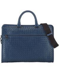 Bottega Veneta - Softie Slim Woven Briefcase - Lyst