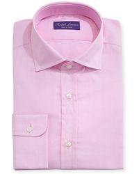 Ralph Lauren - Solid Dobby Cotton Dress Shirt - Lyst