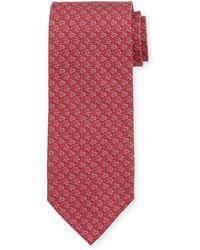 Ferragamo - Fast Turtle-print Silk Tie - Lyst