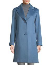 Fleurette - Long Two-button Wool Coat - Lyst