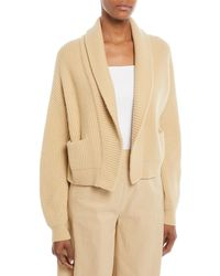 Vince - Cropped Shawl-collar Cardigan - Lyst