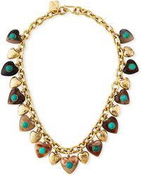 Ashley Pittman - Makundi Heart-charm Necklace W/ Turquoise - Lyst