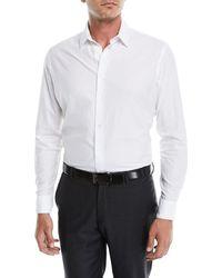 Giorgio Armani - Men's Tonal Embossed Chevron Sport Shirt - Lyst