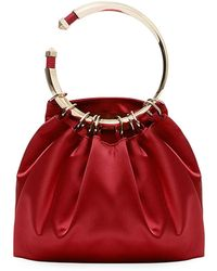 Valentino - Bebop Loop Satin Clutch Bag - Lyst