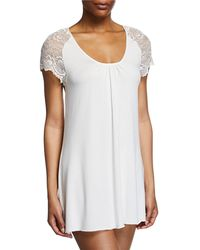 Samantha Chang - Lace Cap-sleeve Short Nightgown - Lyst