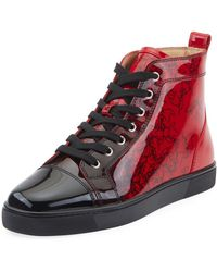9ecb858134f Christian Louboutin - Men s Louis Ombre Patent Leather High-top Sneakers -  Lyst