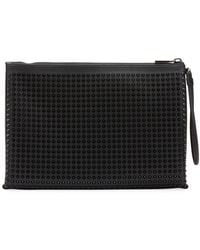 e160c1e81cd5 Christian Louboutin - Men s Empire Spiked Leather Pouch Bag - Lyst