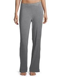 Natori - Feathers Lace-trim Lounge Trousers - Lyst