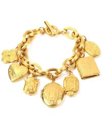 Ben-Amun - Royal Locket Charm Bracelet - Lyst
