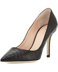 Nancy Gonzalez - Holly Crocodile 90mm Pump - Lyst