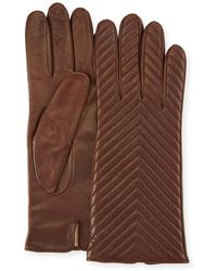 Portolano - Quilted Napa Leather Gloves - Lyst