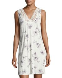 Hanro - Camille Floral-print Tank Nightgown - Lyst