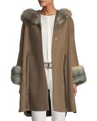 Loro Piana - Charton Cashmere Fur-trim Cape - Lyst