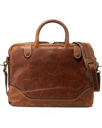 Frye - Men's Logan Slim Leather Briefcase - Lyst