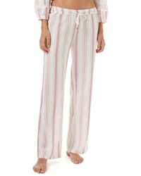 Melissa Odabash - Krissy Striped Cotton Coverup Trousers - Lyst
