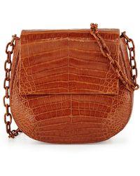 Nancy Gonzalez - Crocodile Chain-strap Saddle Bag - Lyst
