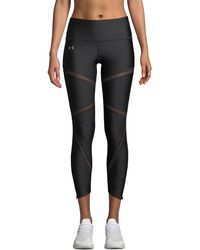 Under Armour - Heatgear® Cropped Mesh Performance Leggings - Lyst