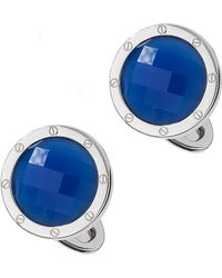 Jan Leslie - Blue Agate Faceted Cuff Links - Lyst