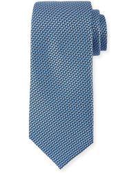 Ermenegildo Zegna - Basketweave Silk Tie - Lyst