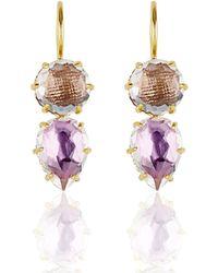 Larkspur & Hawk - Caterina Round Pear Earrings - Lyst