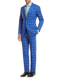 Kiton - Ombre Plaid Two-piece Suit - Lyst