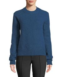 Helmut Lang - Brushed Wool-alpaca Crewneck Pullover Sweater - Lyst