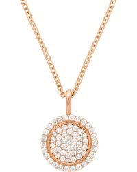 Jamie Wolf - 18k Scallop Pave Pendant Necklace - Lyst
