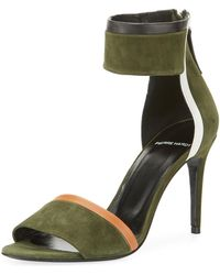 Pierre Hardy - Colorblock Suede Ankle-cuff Sandal - Lyst