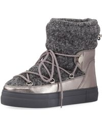 Moncler | Ynnaf Wool & Leather Snow Boot | Lyst