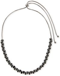 Fallon - Monarch Jagged Edge Crystal Choker Necklace - Lyst