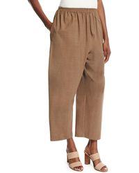 Eskandar - Cropped Stretch-wool Trousers - Lyst