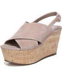 Diane von Furstenberg - Juno Suede Platform Wedge Sandals - Lyst