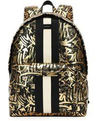 Bally - Hingis Graffiti-print Leather Backpack - Lyst