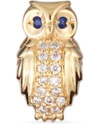 Sydney Evan - Owl Diamond Single Stud Earring - Lyst