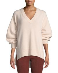 Vince - V-neck Cashmere Tunic Sweater - Lyst