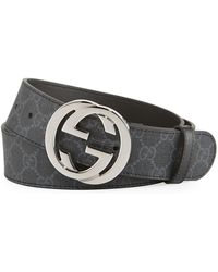 Gucci - GG Supreme Belt With G Buckle - Lyst