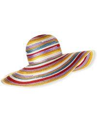 Missoni - Big Striped Woven Floppy Sun Hat - Lyst