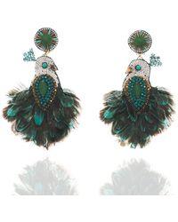Ranjana Khan - Beaded Tassel Drop Clip-on Earrings - Lyst