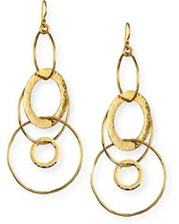Ippolita - 18k Classico Mixed Large Hammered Link Jet Set Earrings - Lyst