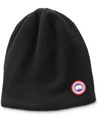 Canada Goose - Men s Standard Logo Toque Winter Beanie Hat - Lyst b915576f8b5e