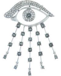 Oscar de la Renta - Crystal Eye Brooch - Lyst