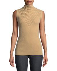 Elie Tahari - Natalia Sleeveless Merino Wool Turtleneck Sweater - Lyst