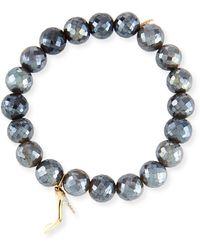 Sydney Evan - Labradorite & Diamond Stiletto Bracelet - Lyst