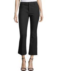10 Crosby Derek Lam - Stretch-cotton Cropped Flare Trousers - Lyst